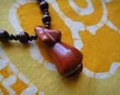 Mother Earth Jasper Stone Goddess Prayer Bead Necklace Long Mala Japa Pregnant with Child Fertility Symbol