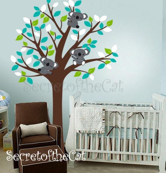 B b deal arbre et koalas autocollant b b autocollant arbre - Stickers koala chambre bebe ...