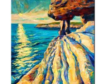Sea lights - Original Oil Painting- Landscape Painting Original Art Impressionistic OIl on Canvas by Ivailo Nikolov