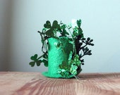 CLEARANCE - Wee Mini Leprechaun Green Top Hat - Tiny Top Hat on a Hair Clip - St Pattys Day Fascinator - Girls - Womens