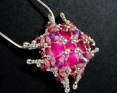 Super Pink Luna Soft Square Pendant