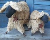 Primitive Sheep and Lamb,  Made To Order