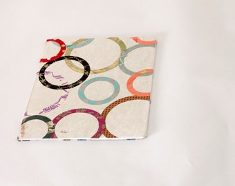 Circles Design large lined notebook