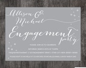 Engagement Party invitation - Wedding announcment - printed or DIY
