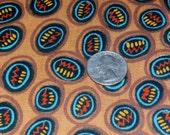 "Vintage Cotton Kris Taylor Fabri Quilt Fabric Yardage, Chocolate Brown Geometric 45"" x 1 yard, 10 Yards Available"