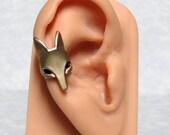 Fox Head Ear Cuff ' right ear '