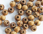 "25 Burly Wooden Beads 8mm (1/4"") - BD509"