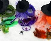 Witch Fascinator Kit (LARGE) -Choose Color