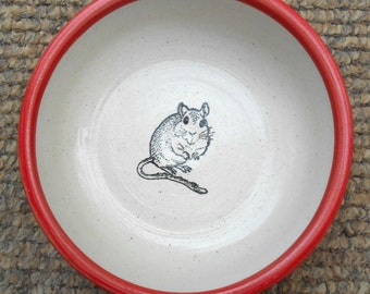 Gerbil - Bowl in Red (Small)