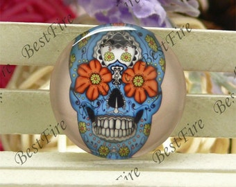 10mm,12mm,14mm,16mm,18mm,20mm,25mm,30mm Round Glass Cabochons Skull,jewelry Cabochons finding beads,Glass Cabochons,skull Cabochons--16