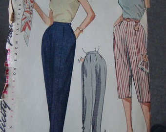 3 Early 1950s Sewing Patterns -- Simplicity 3578, 3839, 4260