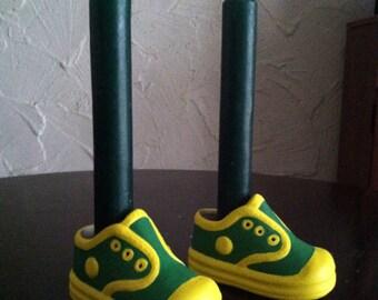 Teeny shoe candle. Set of two