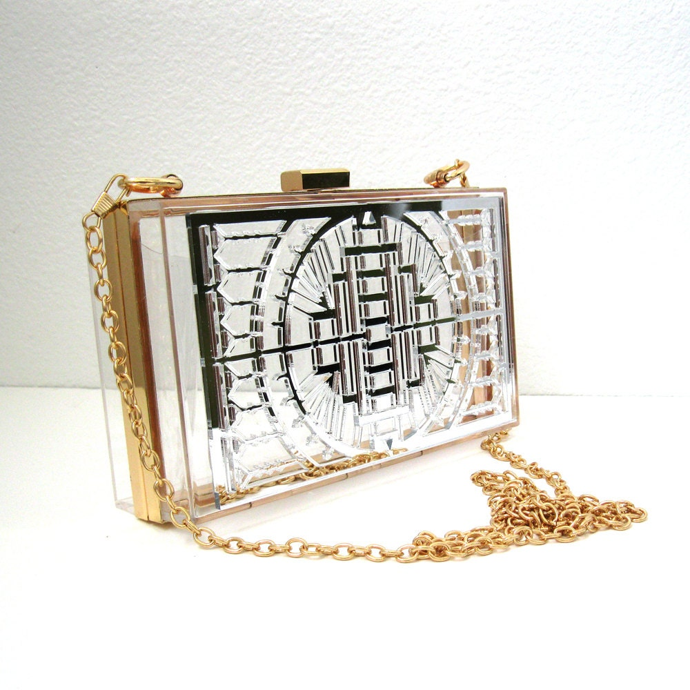Game Day Divas offers women a fashionable patent pending clear bag to access sporting events or concerts with ease. Made from recyclable vinyl (economically friendly), brass chain and a .