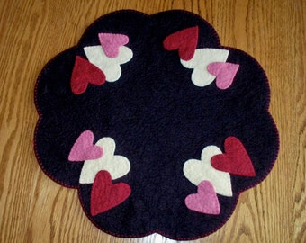 Gotta Have Heart Penny Rug