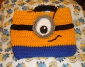 one eye minion style fun wool tote handbag vegan bag despicable me minions