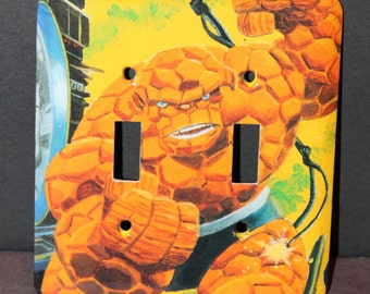 The Thing Fantastic Four Marvel Comic Book Resin Switchplate Light Cover