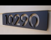 Custom Modern Floating House Numbers in Aluminum