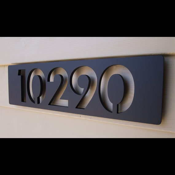 Custom modern floating house numbers in aluminum by for Floating house letters