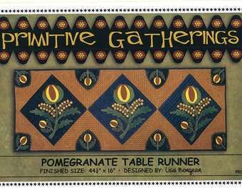 Primitive Gatherings Pomegranate Table Runner Pattern