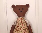 Cottage Bear - Rag Doll Style - Autumn Tones