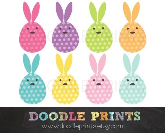 Egg Bunnies Clipart