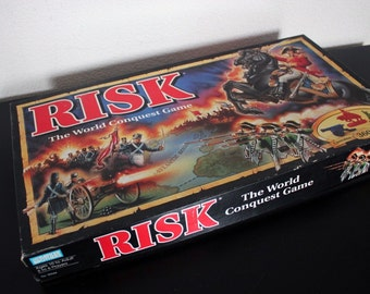 RISK The World Conquest Game 100s of Miniatures Parker Bros 1993 Complete