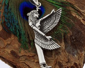 Egyptian Silver Jewelry Magic Goddess Isis Pendant