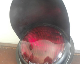 Red Traffic Light Genuine Great for Man Cave