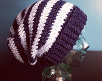 Navy & Light Blue Beanie