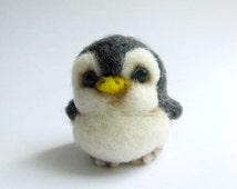 Baby Penguin needle felted miniature
