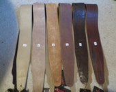 Leather guitar strap Classic brown collection