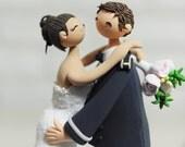 Custom Cake Topper -Hugging Me Forever-