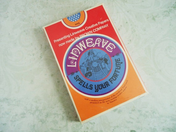 Hippie 1967 Linweave Tarot Cards Unopened and Unused, Vintage Fortune Teller Major Arcana Tarot Deck