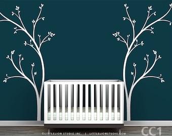 Bed Headboard Wall Decal - Fun, novelty tree decal design - Modern Nursery Decor