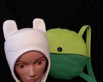Finn Hat/Backpack Combo- Adventure Time Inspired Finn the Human Costume Cosplay Set