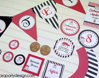 Pirates Party Collection by Fara Party Design- Whole Printable Collection