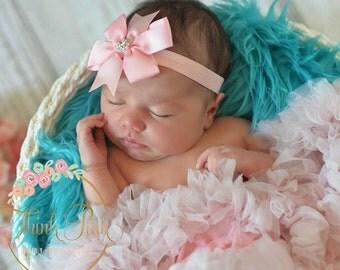 CHOOSE your COLOR, Baby Headband, Baby headbands, white bow baby headband, Baby Bow band, Newborn headband, Baby Hair Bows, Hair Bow Band.