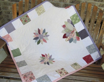 Baby Quilt, Girl, Crib Bedding, Travel Blanket, Play Pad, MODA Mill Book, Children's Bedding