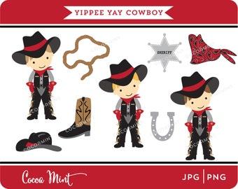 Yippee Yay Cowboy Clip Art