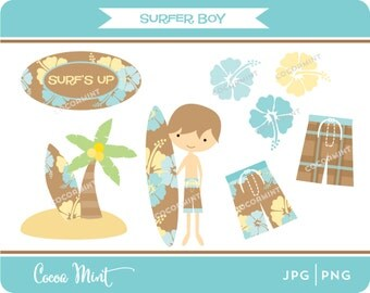 Surfer Boy Clip Art