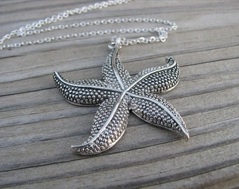 SALE- Starfish Necklace- LARGE Pendant
