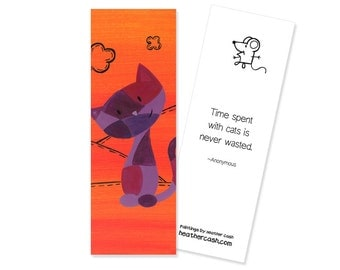 Patchwork Kitty Cat Bookmark ~ Kitty Cat Party Favors