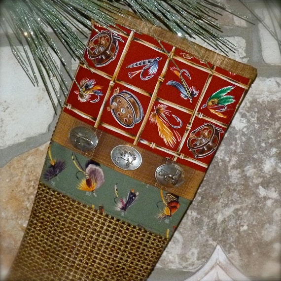 Fly fishing christmas stocking fishing christmas stocking for Fish christmas stocking