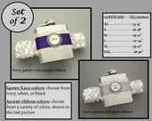 Two (2) Flask Garters: Bridesmaids Gifts / Maid of Honor, or Bachelorette Party Gifts - Choose Your Colors