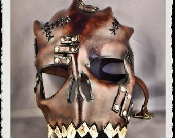 Leather skull mask - Wild -