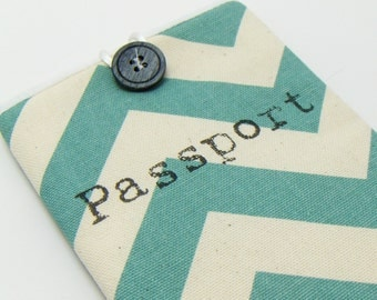Chevron Passport Case - Pick your color! add a matching luggage tag