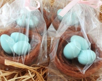 10 Bird Nest Party Favor Soaps