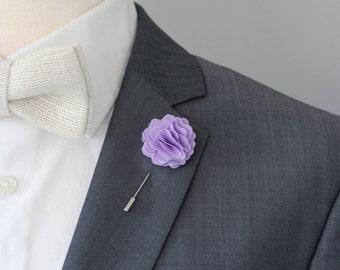 Lavender wedding boutonniere, lilac boutonniere, purple mens lapel flower pin, lilac wedding boutonniere, lapel pin,groomsmen lavneder lapel