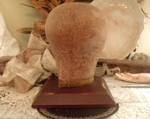 Vintage Head Form / Millinery Head Form / Vintage Hat / Wig Form / Millinery Hat Mold
