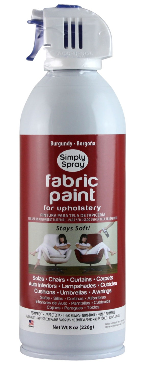 simply spray upholstery fabric spray paint dries soft permanent burgundy 6 pack from. Black Bedroom Furniture Sets. Home Design Ideas